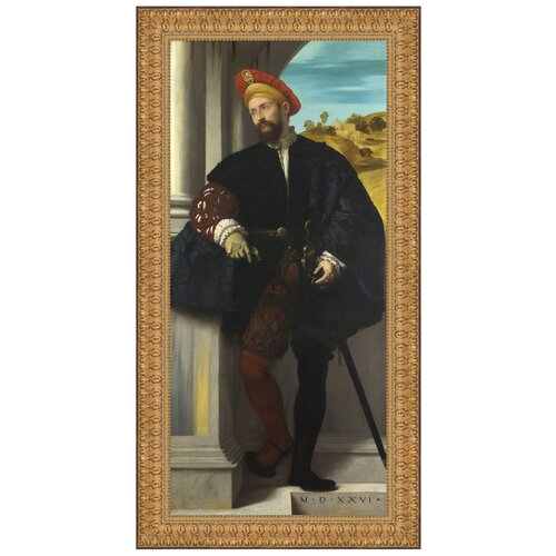 Portrait of a Man, 1526 by Moretto da Brescia Framed Painting Print