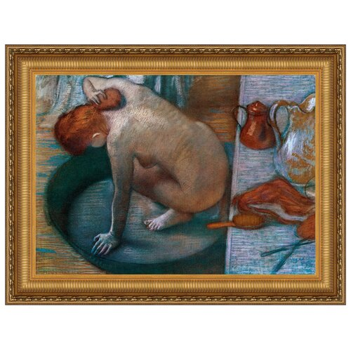Le Tub, 1886 by Edgar Degas Framed Painting Print