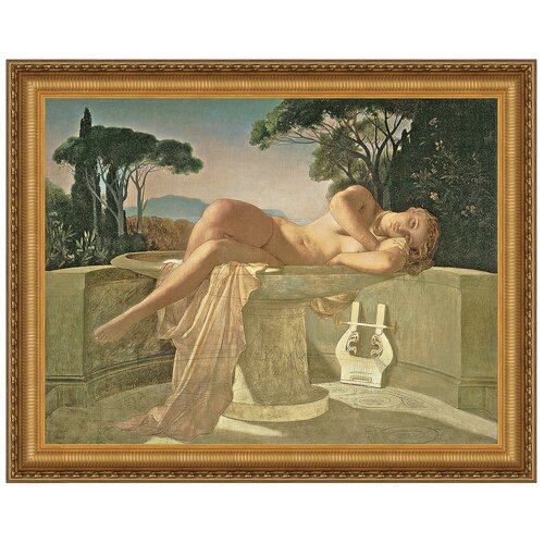 Girl in a Basin, 1845 by Paul Delaroche Framed Painting Print