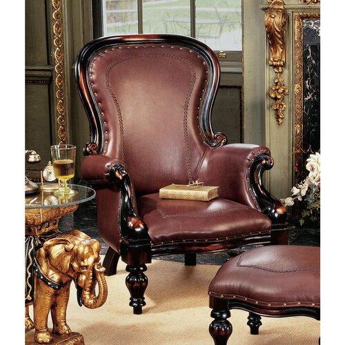 Design Toscano Victorian Rococo Wing Chair