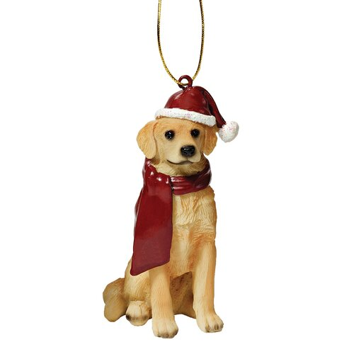 Retreiver Holiday Dog Ornament Sculpture