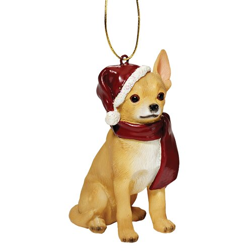 Chihuahua Holiday Dog Ornament Sculpture