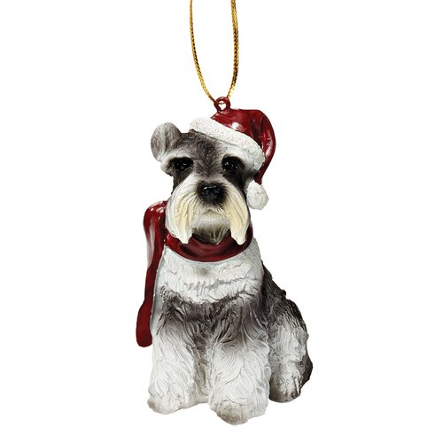 Design Toscano Mini Schnauzer Holiday Dog Ornament Sculpture