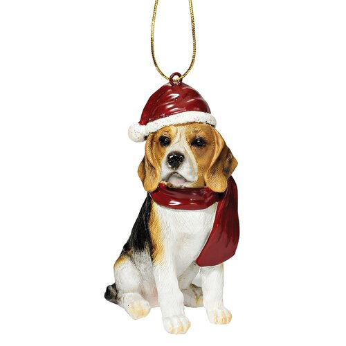 Beagle Holiday Dog Ornament Sculpture
