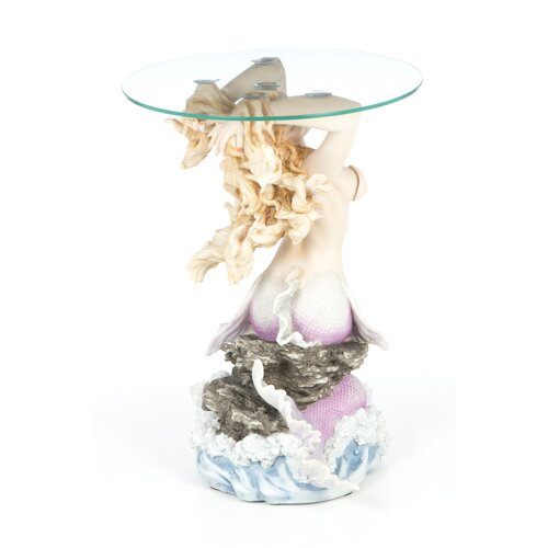 Design Toscano Mermaid of Magellan's Cove Glass Topped Statue Table