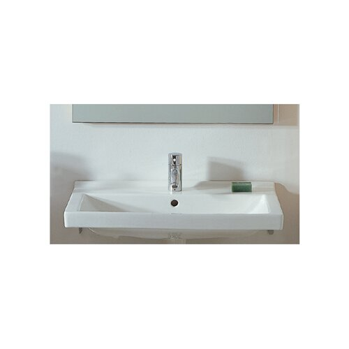 China Rectangular Wall-Mount Bathroom Sink