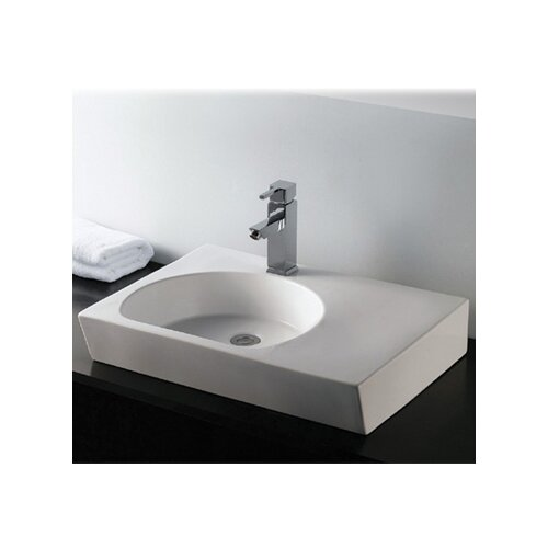 Isabella Rectangular Bathroom Sink with Integrated U-Shaped Bowl