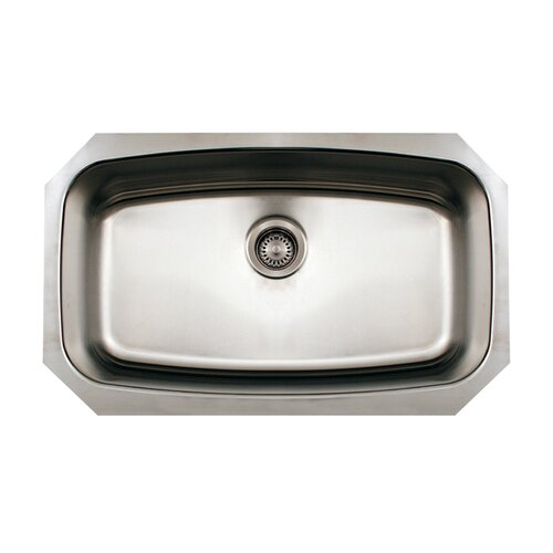 "Whitehaus Collection Noah 29.5"" x 17.5"" Single Bowl Undermount Kitchen Sink"