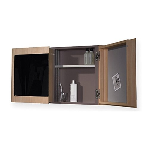"Whitehaus Collection Aeri 37.75"" x 21.75"" Surface Mount Medicine Cabinet"