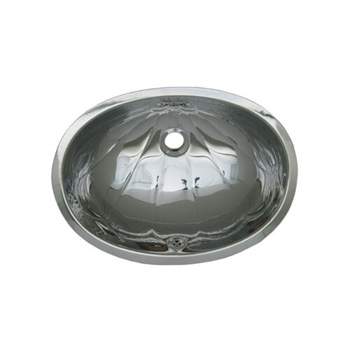 Whitehaus Collection Decorative Undermount Oval Bathroom Sink