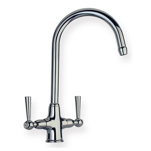 Metrohaus Two Handle Single Hole Bar Faucet with Gooseneck Swivel Spout and Dual Handles