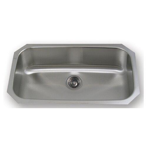 """Whitehaus Collection New England 30.5"""" x 18.25"""" Undermount Rectangular Kitchen Sink"""