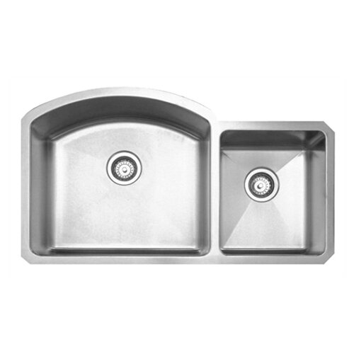 "Whitehaus Collection Noah's 36.88"" x 20.88"" Chefhaus Double Bowl Undermount Kitchen Sink"
