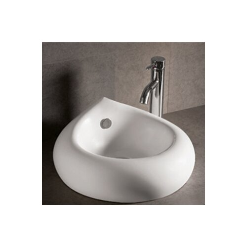 Isabella Teardrop Bathroom Sink with Overflow and Center Drain