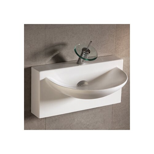 Whitehaus Collection Isabella Bathroom Sink with U-shaped bowl and Integral Rear Center Drain