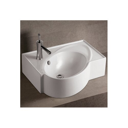 Isabella Above Mount Bathroom Sink with Overflow and Rear Center Drain