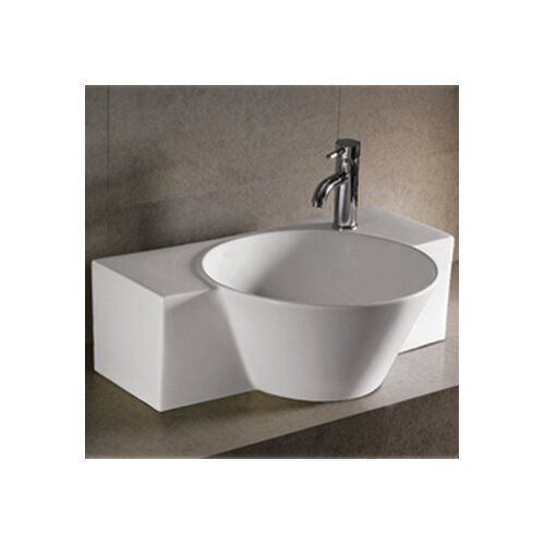 Isabella Above Mount Bathroom Sink with Center Drain