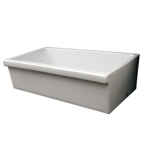 "Whitehaus Collection Farmhaus Fireclay 35.5"" x 20"" Large Quatro Alcove Reversible Fireclay Kitchen Sink"