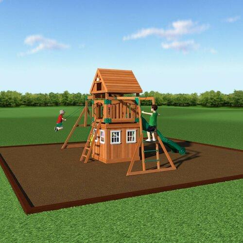 Backyard Discovery Castle Peak All Cedar Swing Set