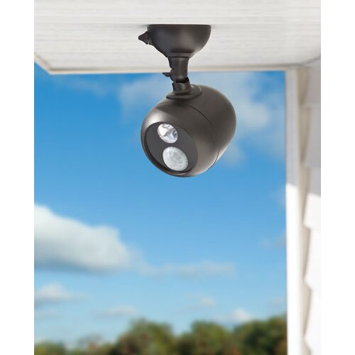 Mr. Beams Battery Powered Motion Sensing LED Outdoor Security Spotlight