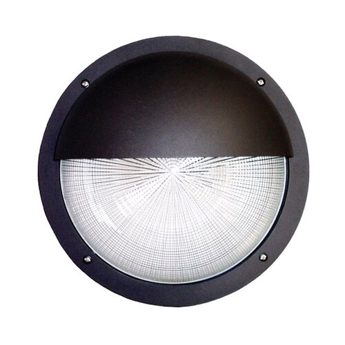Deco Lighting 40W Decorative Round Outdoor Wall Light in Eyelid Bronze