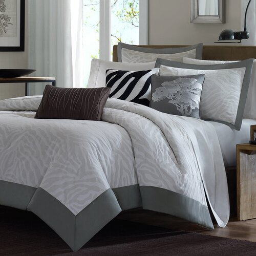 Madison Park Sasha 6 Piece Jacquard Duvet Set