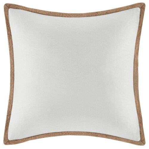 Linen with Jute Trim Square Pillow
