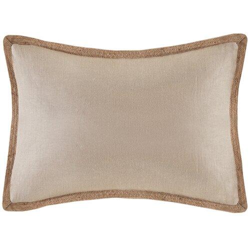 Linen with Jute Trim Oblong Pillow