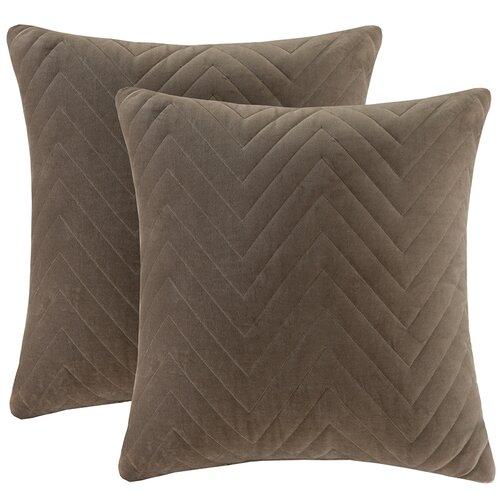 Cotton Velvet Square Pillow (Set of 2)