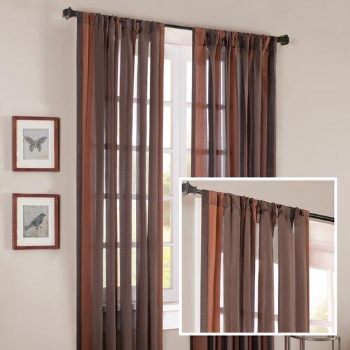 Madison Park Brighton Wide Stripe Rod Pocket Curtain Single Panel