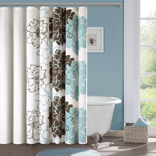 Madison Park Lola Cotton Shower Curtain