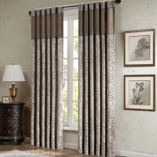 Madison Park Aubrey Rod Pocket Curtain Panel Pair