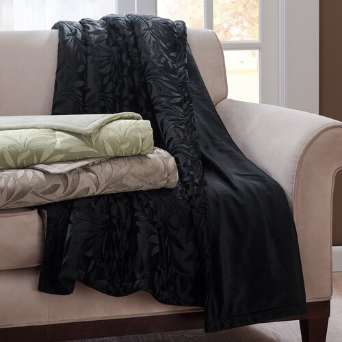 Madison Park Falling Leaves Mink Down Alternative Polyester Throw
