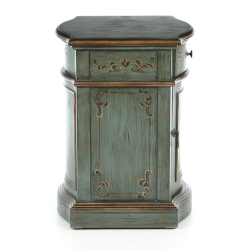 Madison Park Scroll Leaf 1 Drawer Chest