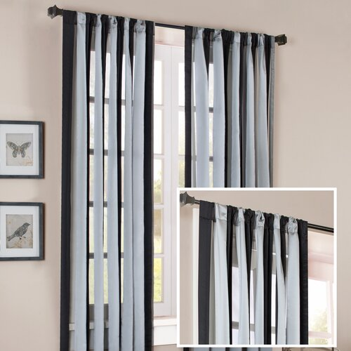 Madison Park Brighton Wide Stripe Rod Pocket Curtain Single Panel
