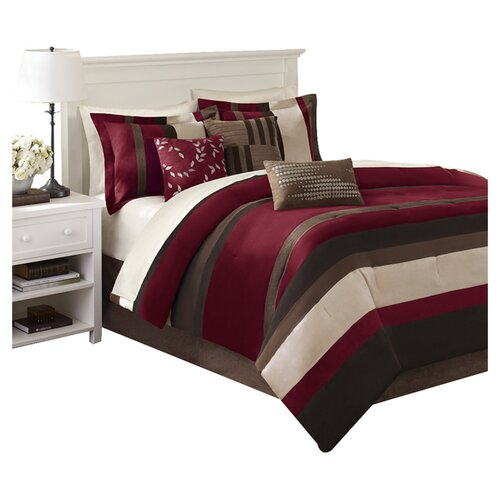 Madison Park Boulder Stripe 7 Piece Comforter Set