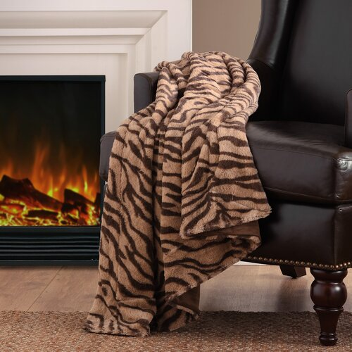 Madison Park Chapman Long Fur Polyester Throw