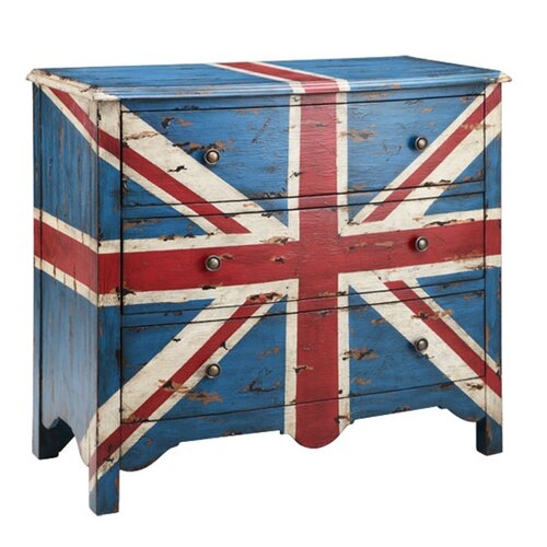 British Flag 3 Drawer Chest