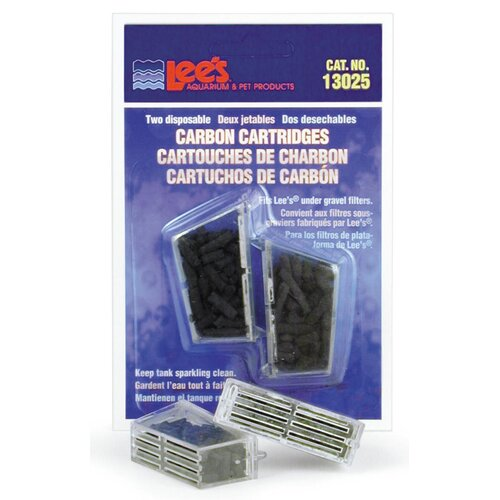 Lees Aquarium & Pet Disposable Carbon Cartridge (2 Pack)