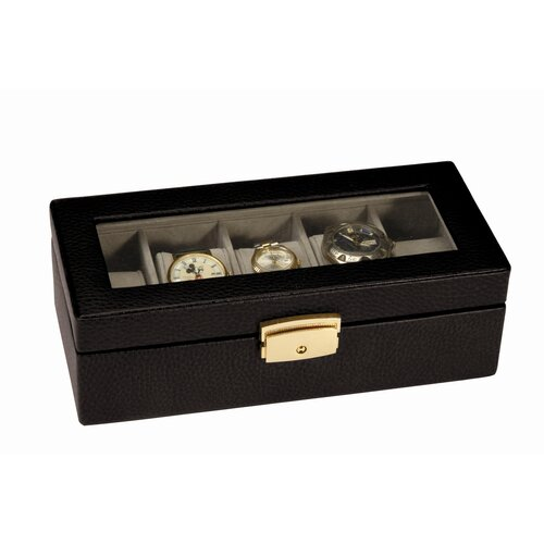 5 slot leather watch case with pen holder