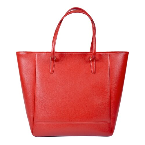 Royce Leather Charlotte Saffiano Tote Bag