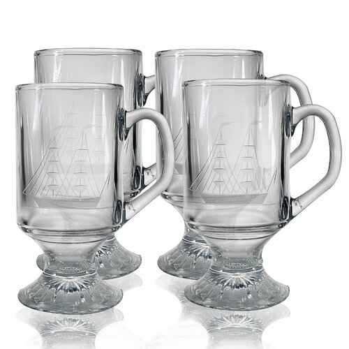 10 oz. Footed Mug (Set of 4)