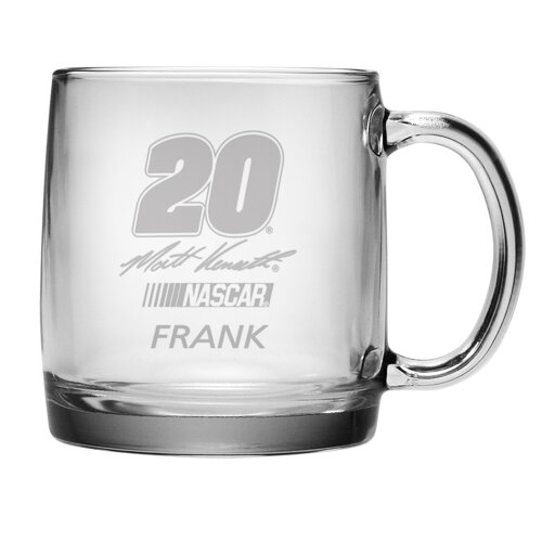 Susquehanna Glass Nascar Matt Kenseth 13 oz. Coffee Mug with Personalization