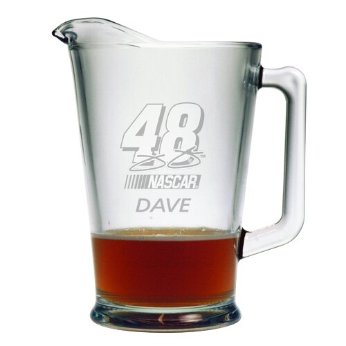 Susquehanna Glass Nascar Individual 60 oz. Pitcher, Jimmie Johnson with personalization