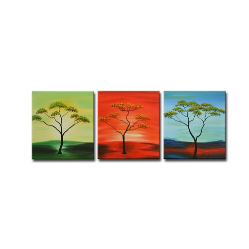 Segma Inc. Radiance Sonia 3 Piece Original Painting on Canvas Set