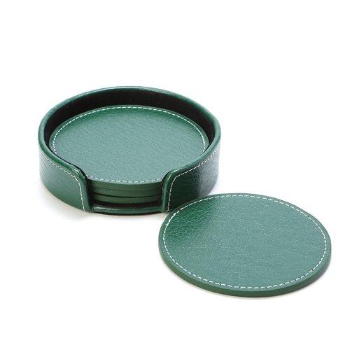 Preferred Nation Leather Coaster Set