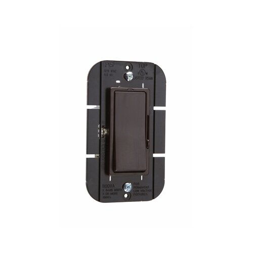 Legrand Harmony 1100VA Decorator Magnetic Low Voltage Single Pole/Three Way Dimmer in Brown