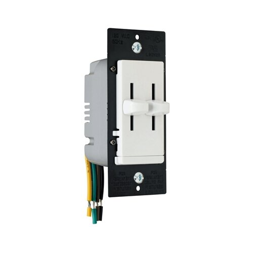 Legrand TradeMaster 300W Decorator Dual Slide Two Single Pole Dimmers in White