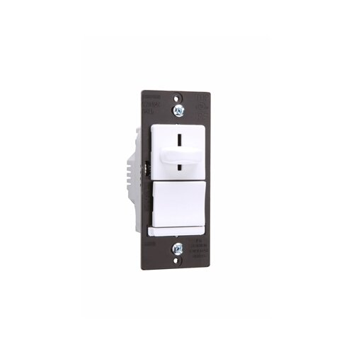 Legrand TradeMaster 600VA Decorator Magnetic Low Voltage Single Pole Slide Dimmer Preset in White