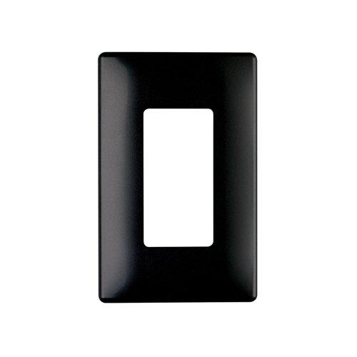 "Legrand 3.1"" Single Gang Decorator Screwless Wall Plate in Black"